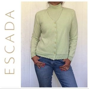 ESCADA GREEN CASHMERE SWEATER SET MEDIUM